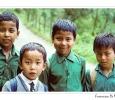 bambini scuola varie etnie gantok sikkim india