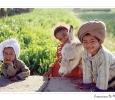bambini giovani contadini sul nilo somaro da soma agricoltura egitto
