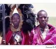 guerrieri etnia masai pastori nomadi savana copricapo parco nazionale serengeti tanzania