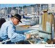 honfleur ritrovo artisti arte impressionisti pittore porto case tipiche normandia oceano atlantico francia